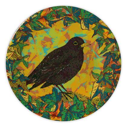 Blackbird and Ivy China Plate