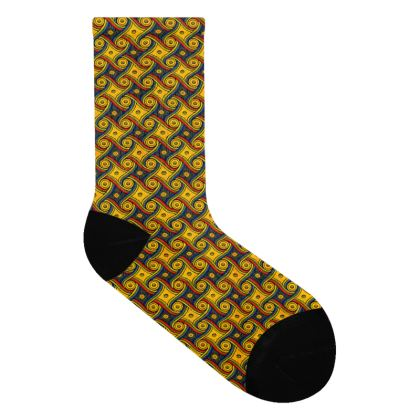 LAX Gally Retro Carpet Pattern Socks