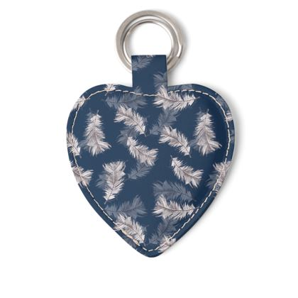 Feather printed keyring