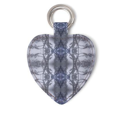 Floral reflection blue keyring