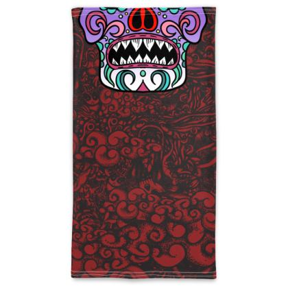 Candy Skull 2 different sides Neck Tube Scarf