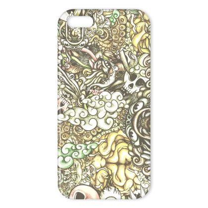 doodles flat IPhone Case