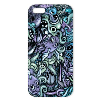 Doodles Blue IPhone Case