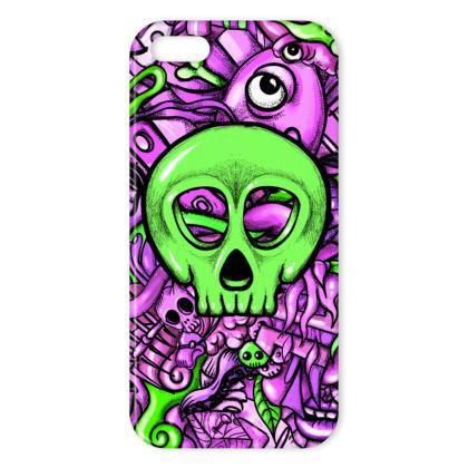 Green Skull IPhone Case
