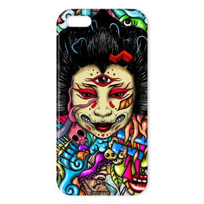 Geisha Doodles IPhone Case