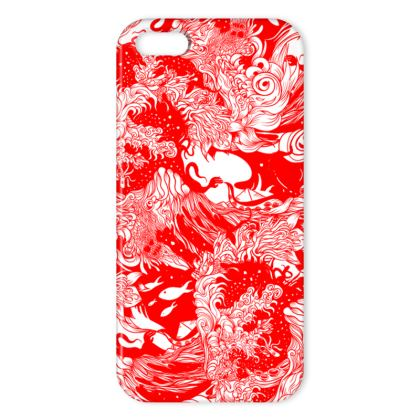 Red Wave IPhone Case
