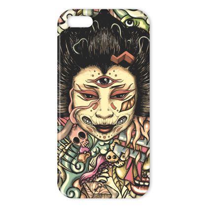 Geisha Doodles Flat IPhone Case