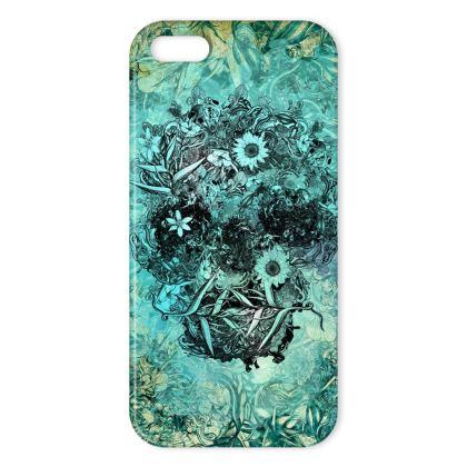 Blue Skull IPhone Case