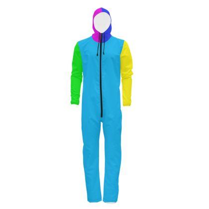 Multicolour Panel Design Hazmat Suit