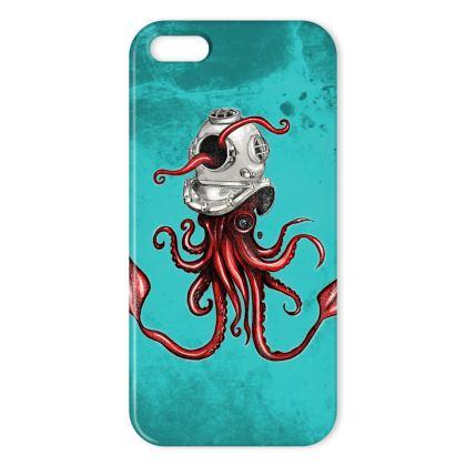 Squid and Helmet IPhone Case