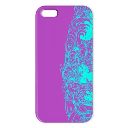 Wave Blue and Purple IPhone Case