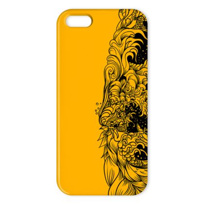 Wave Yellow IPhone Case