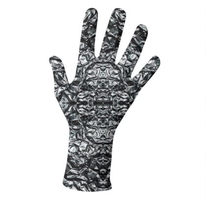Alchemy Metal and Electric Violet Design Gloves