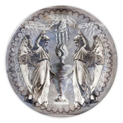 Standing Angels - China Plates
