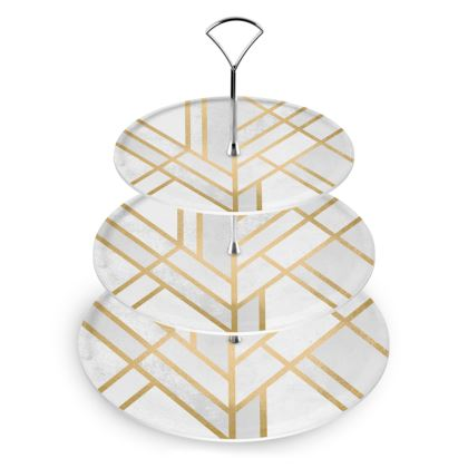 Art Deco Geometry Cake Stand