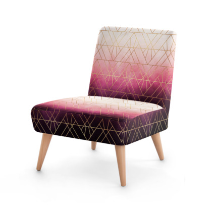 Pink Ombre Triangles Occasional Chair