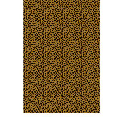 Leopard Print Satin Maxi Slip Dress
