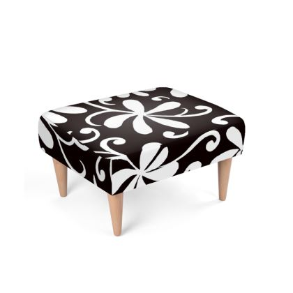 Ebony and Ivory Footstool