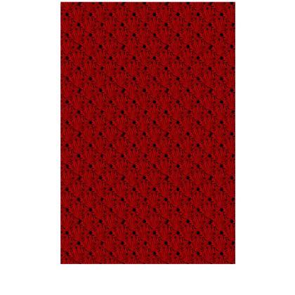 Red Black Floral Satin Slip Dress