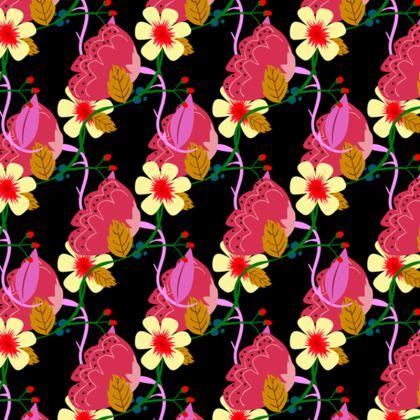 Black floral maxi slip dress!