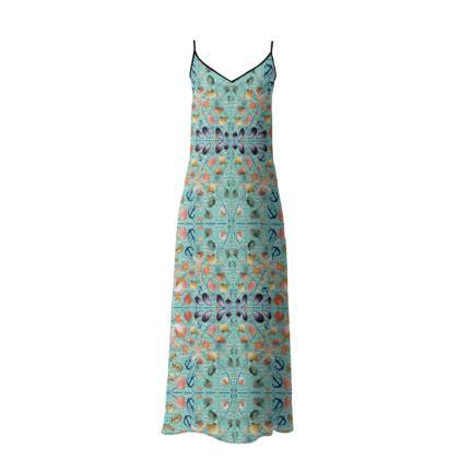 237,- Butterfly crepe Muschel Design Beach Dress Sophia size M = 38