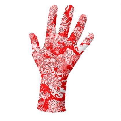 Wave Red Gloves