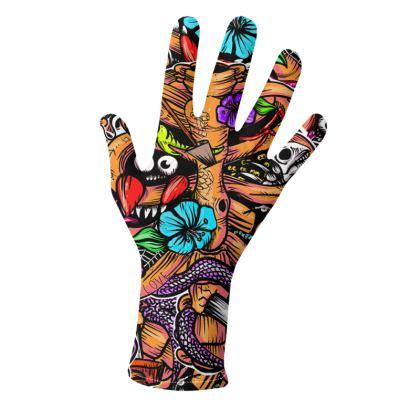 Doodle bones Gloves