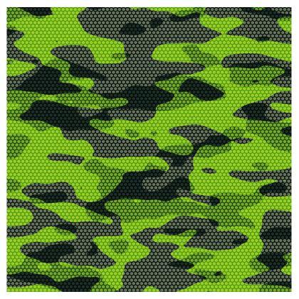 Green Tech Camo Swim Shorts