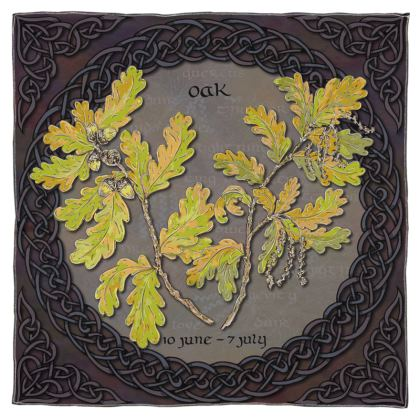 Tree Calendar Oak Scarf Shawl or Wrap