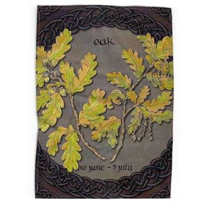 Tree Calendar Oak Tea Towel