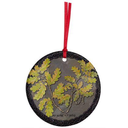 Tree Calendar Oak Hanging Ornament