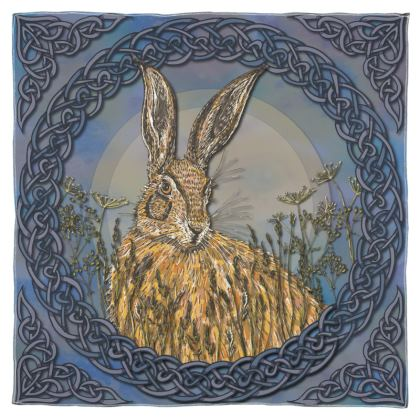 Celtic Hare Scarf, Wrap or Shawl