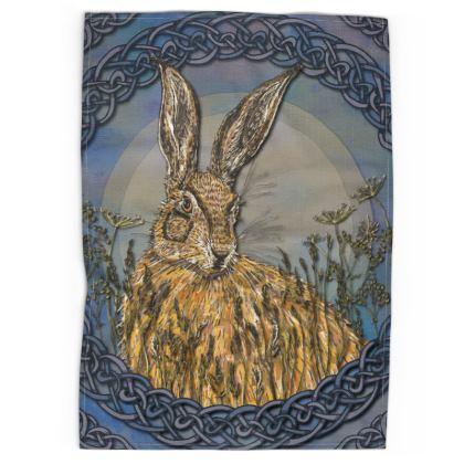 Celtic Hare Tea Towel