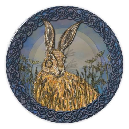 Celtic Hare China Plate