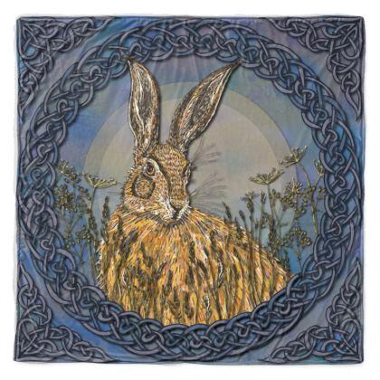 Celtic Hare Throw Blanket