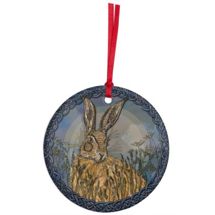 Celtic Hare Hanging Ornament