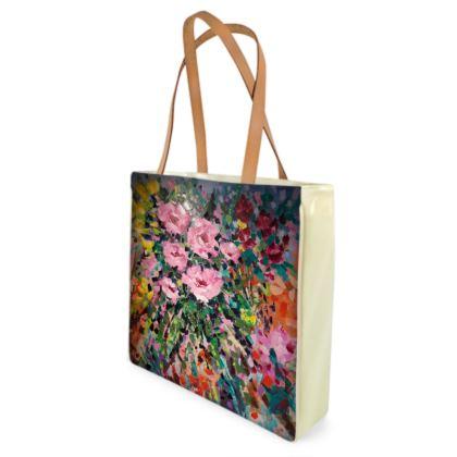 Pink Flowers Shopper/Beach Bag by Alison Gargett