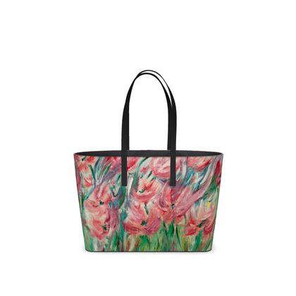 Poppies in the Wind Kika Tote Bag by Alison Gargett