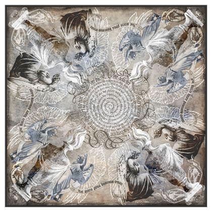 Angels - Silk Georgette Square Scarf