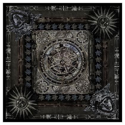 Dark Astrolabe - Silk Georgette Square Scarf