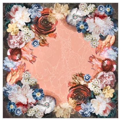 Flowers - Silk Georgette Square Scarf