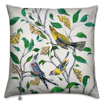 Birds & Butterflies Cushion