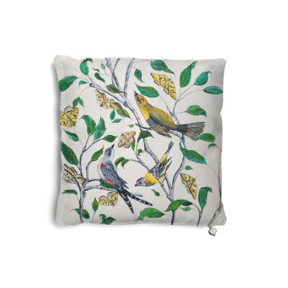 Birds + Butterflies pillow set