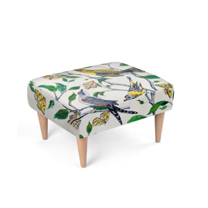 Birds + Butterflies footstool