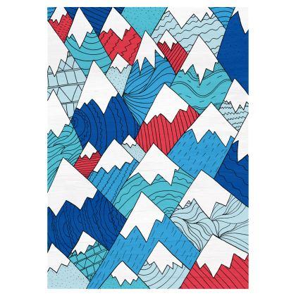 Baseball Cap - Mountain Pattern 2