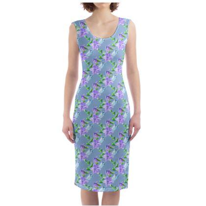 Periwinkle Blue Floral Dress