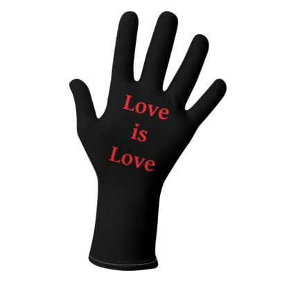 Rainbow and Heart Love is Love Gloves Design 2