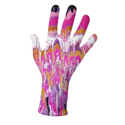Pouring Contrast Gloves Designs 2