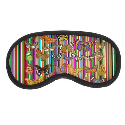 Rainbow Butterflies Eye Mask