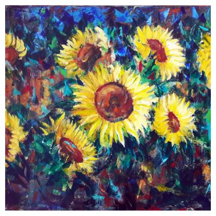 Sunflower Zip Bag by Alison Gargett